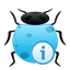 bug, info icon