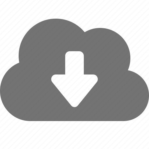 arrow, backup, cloud, cloud-computing, down, download icon
