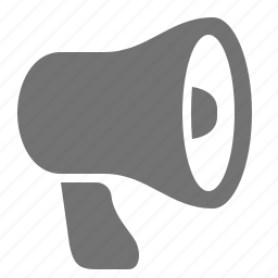 announcement, bullhorn, communication, loudspeaker, marketing, megaphone, sound icon