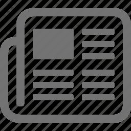 communication, media, news, newspaper, press icon
