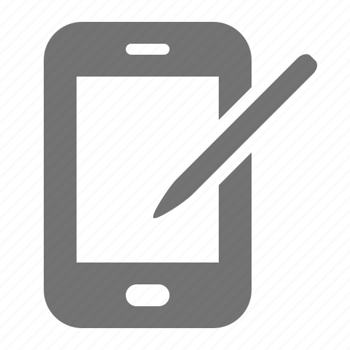 device, mobile, notepad, pen, phone, smartphone, tablet icon