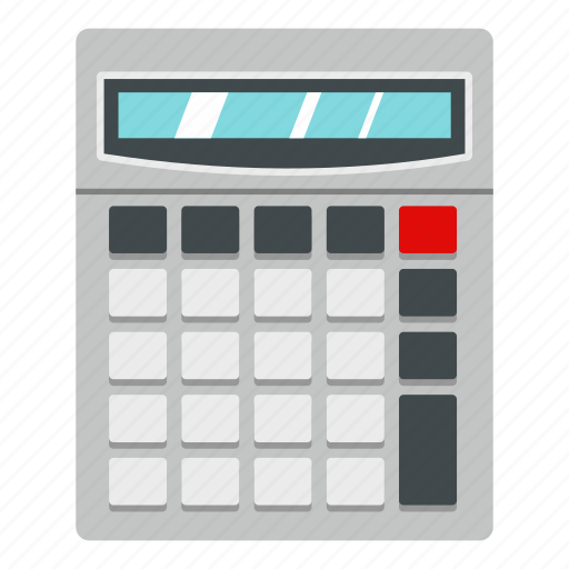business, calculator, display, education, math, mathematics, technology icon