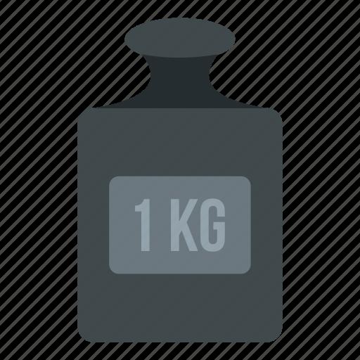 heavy, kg, kilo, kilogram, measurement, one, weight icon