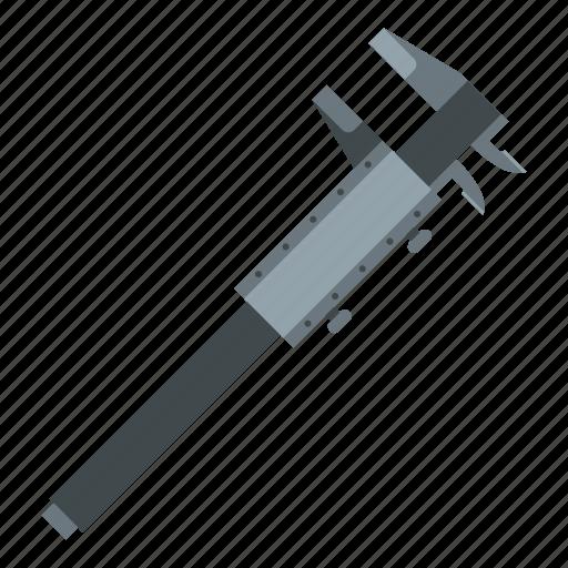 caliper, engineering, equipment, measurement, precision, tool, vernier icon
