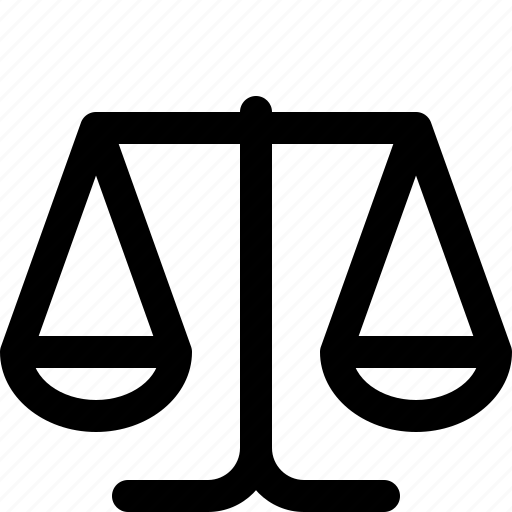 balance scale, equality, justice scale, lawyer, legal, scale icon