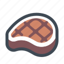 barbecue, coocking, food, grill, meat, slice, steak icon