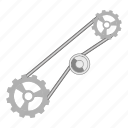 belt, construction, timing, tool icon