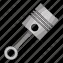 cartoon, piston, repair, tool icon