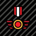 gold, medal, premium, reward icon