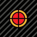 gold, medal, premium, reward, target icon