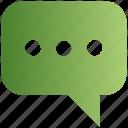 bubble, chat, comment, media, message