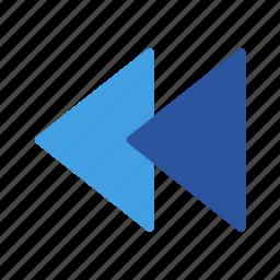 backward, media, music, play, sound, video icon