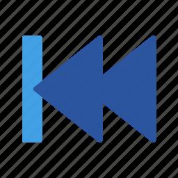 arrows, back, backward, direction, end, left, skip icon
