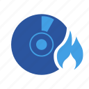 burn, burndisc, disc, writefiles, writetodisc icon