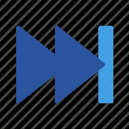 arrow, arrows, end, forward, move, right icon