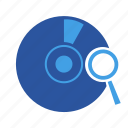 disc, mediasearch, search, searchdisc, storage icon
