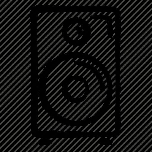 audio, media, multimedia, speaker, technology, video icon
