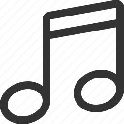 audio, music, music note, note, sound, track icon