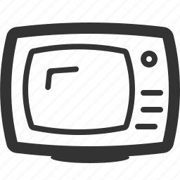 monitor, television, television monitor, tv, tv monitor, tv screen icon