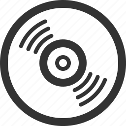 audio, disc, media, music, play, record, vynil icon
