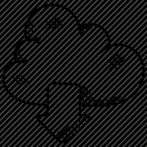 cloud computing concept, cloud download, cloud storage, data storage, network file system icon