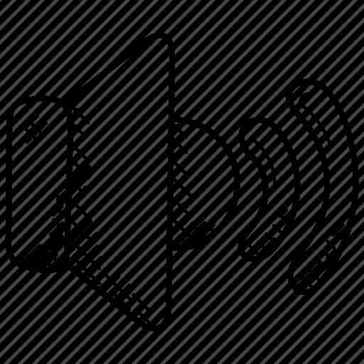 audio, music volume, speakerphone, volume button, volume speaker icon