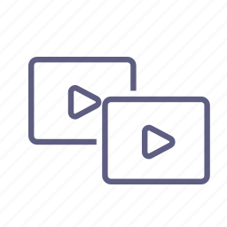 library, load, playlist, queue, replay, upload, video icon