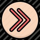fast forward, forward, media icon