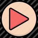 circle, control, media, play, player icon