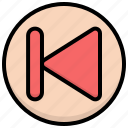 media, player, previous icon