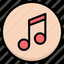 music, note, streamline icon