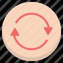 circle, loop, refresh, repeat