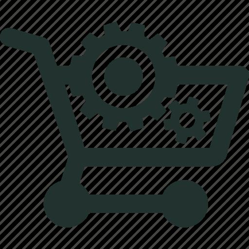 e-commerce, line, online, optimization, seo, shopping, website icon