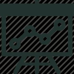 analysis, line, market, monitoring, presentation, research, seo icon
