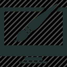 design, development, graphic, line, thin, web icon