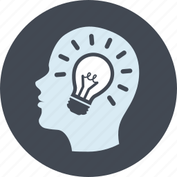 creativity, idea, innovation, line, people icon