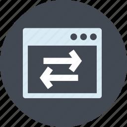 development, line, optimization, seo, sync, weblinks, website icon