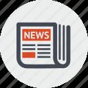 events, information, line, news, newsletter, website icon