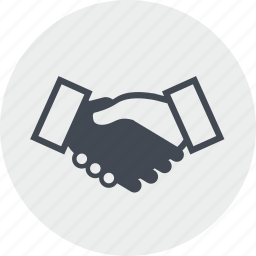 business, cooperation, handling, line, partners, partnership, people icon