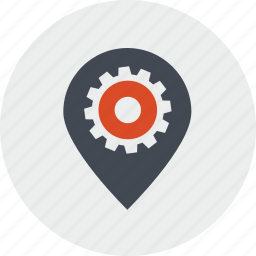 internet, line, location, navigation, optimization, pin, places icon