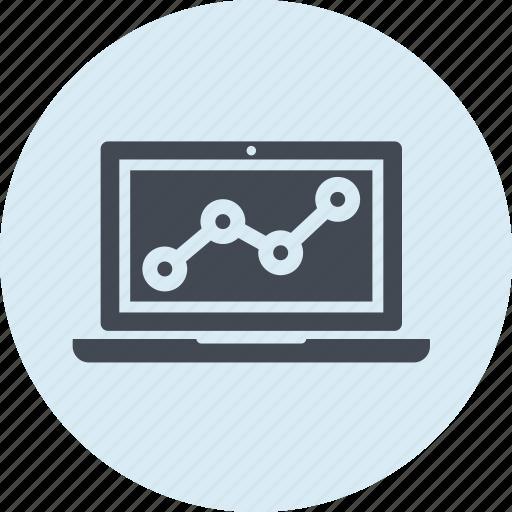 analytics, internet, line, seo, web, website icon