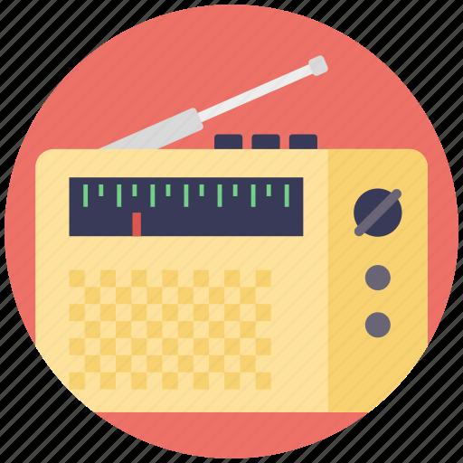 audio broadcasting, fm radio, radio, radio receiver, vintage radio icon