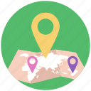 area navigation, gps, location map, location pin, locationing