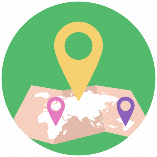 area navigation, gps, location map, location pin, locationing icon