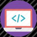 html, online website, seo symbol, web coding, web development icon
