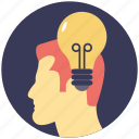 brainstorming, bright idea, creative brain, innovation, intelligence icon