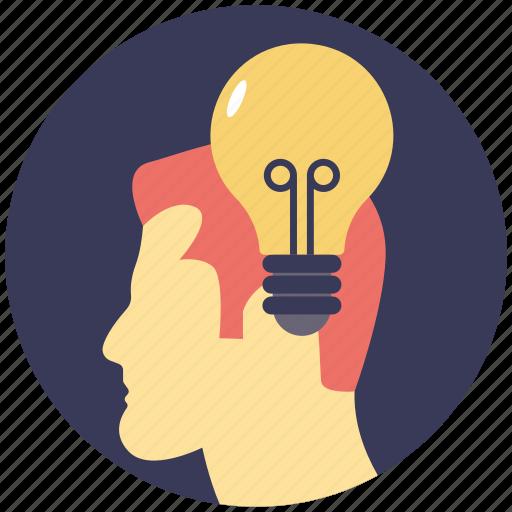brainstorming, bright idea, creative brain, innovation, intelligence icon