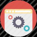 content management, web browser, web development, website development icon