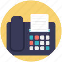 fax machine, fax message, fax transmitter, office equipment, professional machine icon