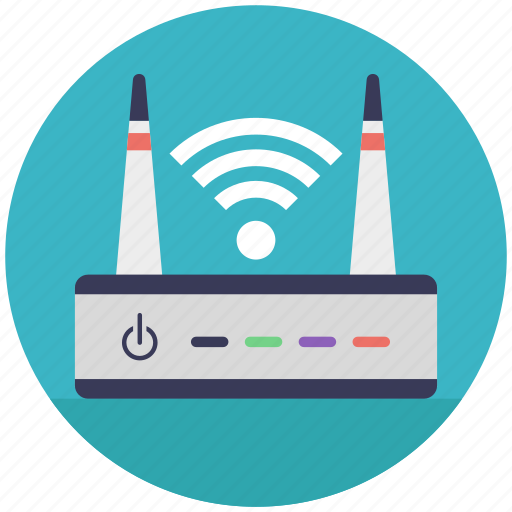 internet router, modem, router and signals, wifi router, wireless router icon